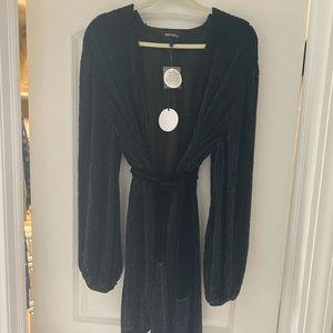 NWT Retrofete Gabrielle Black Sequin Robe Dress